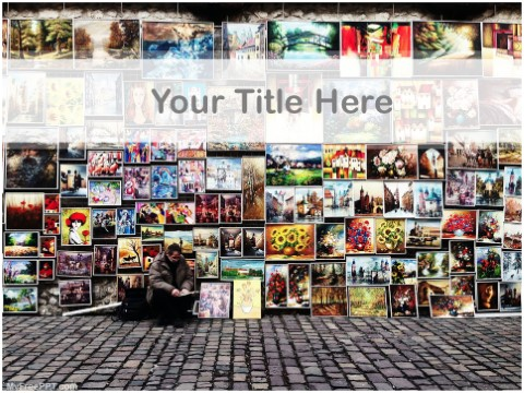 Free Selling Art PPT Template