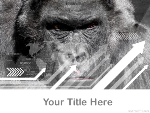 Free Silverback Gorilla PPT Template