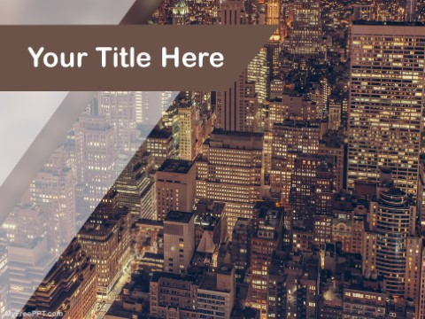 Free Skyscrapers PPT Template