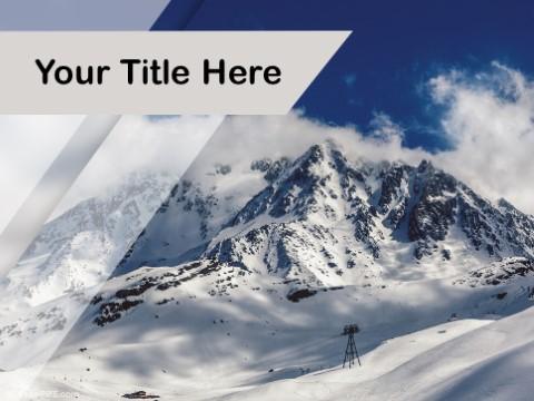 Free Snow Peak PPT Template