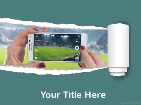 Free Sports Photography PPT Template