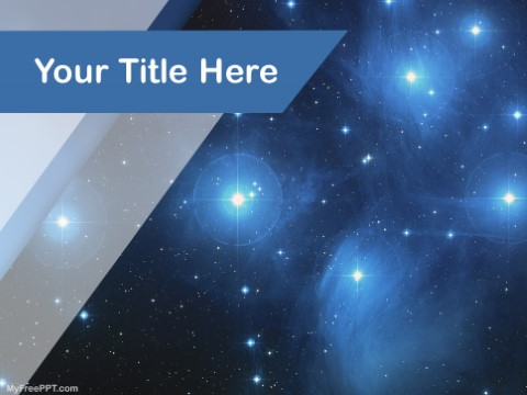 Free Star Clusters PPT Template