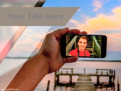 Free Taking Selfie PPT Template