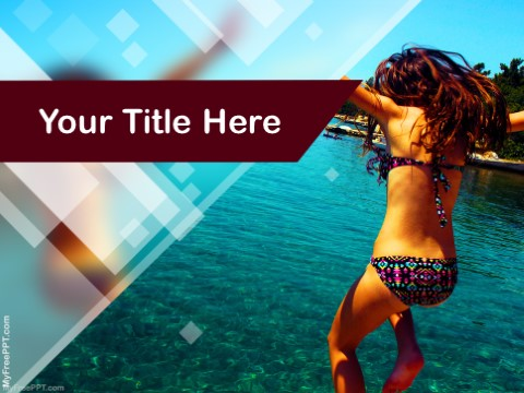 Free Tropical Holiday PPT Template