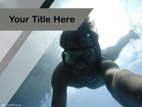 Free Underwater Selfie PPT Template