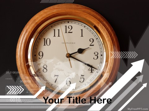 Free Wall Clock PPT Template