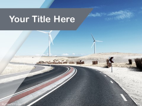 Free Wind Turbine PPT Template
