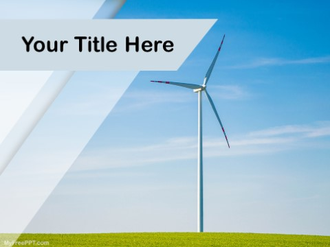 Free Wind Turbines PPT Template