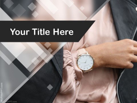 Free Wristwatch PPT Template