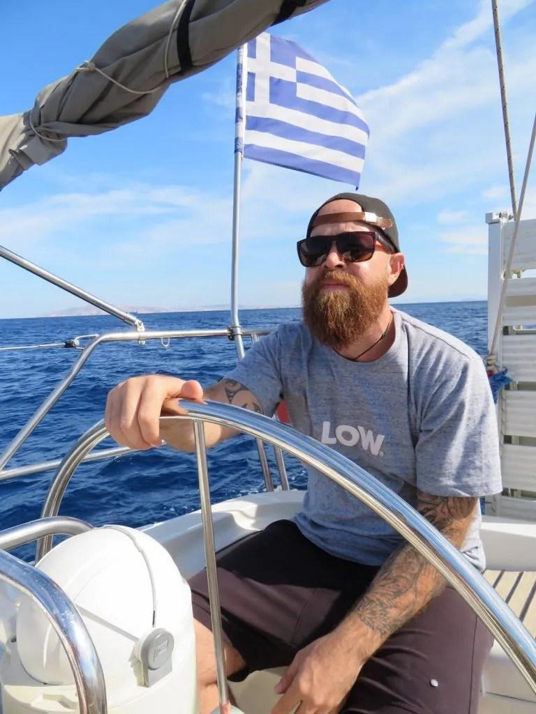 sailing in greece - the free range papa