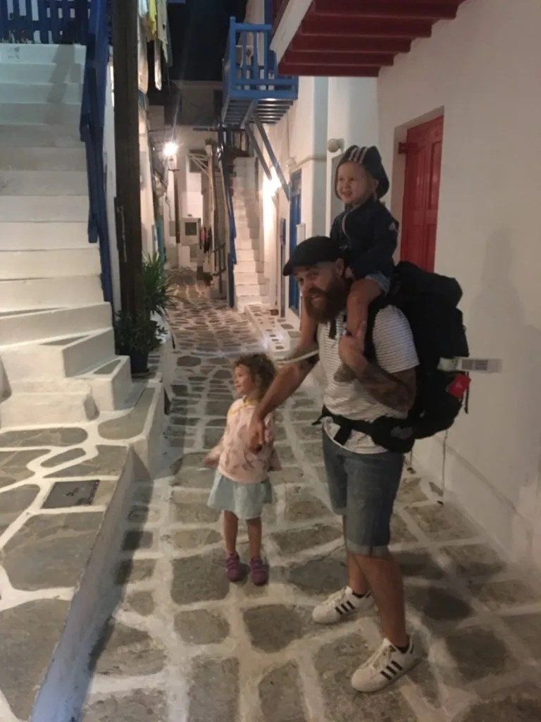 Backpacking in Greece with kids