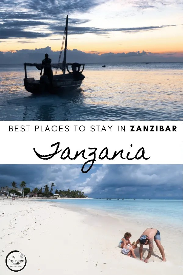 Best place to stay in Zanzibar, Tanzania.  Accomodation recommendations of where to stay and the best options for this beach holiday to Africa.