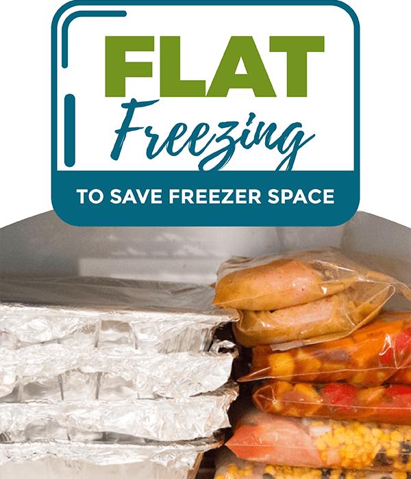 Flat Freezing to Save Freezer Space!