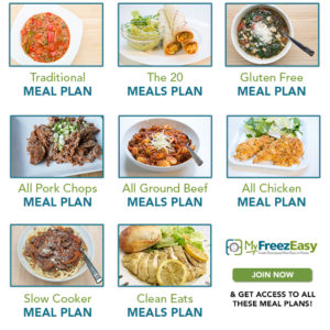 Monthly Freezer Meal Plans