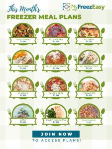 Jan Freezer Meal List