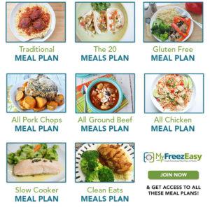 MyFreezEasy Freezer Meal Plans