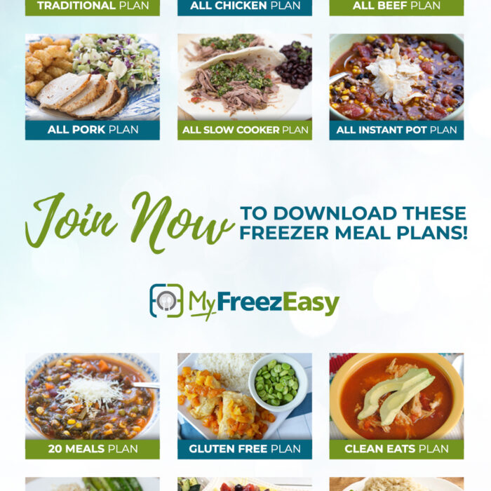 MyFreezEasy Meal Plans & Recipe Lists