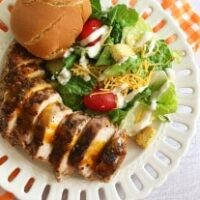 Grilled Jerk Chicken with Mango Sauce