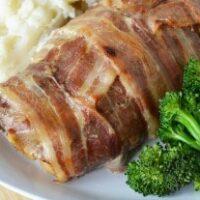 Slow Cooker Bacon Wrapped Pork Tenderloin
