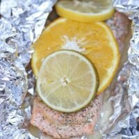Grilled Citrus Salmon Packs {Keto}