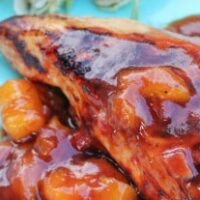 Grilled Chicken with Mango BBQ Sauce