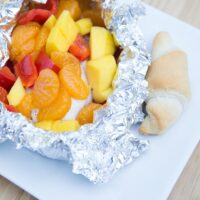 Mango & Red Bell Pepper Chicken {Foil Packs}