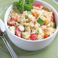 Mediterranean Quinoa Skillet - MyFreezEasy