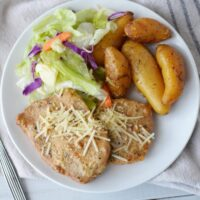 Slow Cooker Caesar Pork Chops and Potatoes