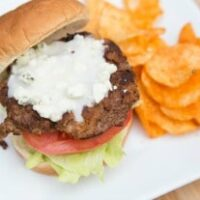 Buffalo Blue Cheese Burgers