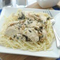 Slow Cooker Chicken & Spinach Stroganoff