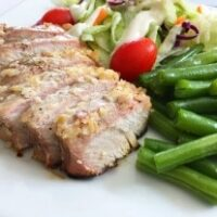 Grilled Garlic-White Wine Pork Chops