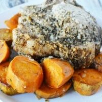 Slow Cooker Italian Pork with Sweet Potatoes