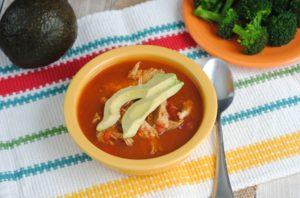 Slow Cooker Chicken No-Tortilla Soup