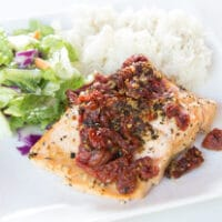 Grilled Sun-Dried Tomato Salmon