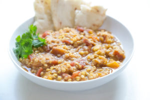 indian butternut squash and lentils
