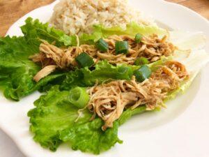 slow cooker hoisin chicken wraps