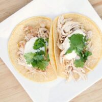 Instant Pot Green Chile Chicken Street Tacos