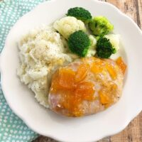 Slow Cooker Peach Orange Pork Chops