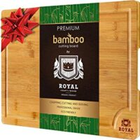 XL Bamboo Cutting Board with Juice Groove