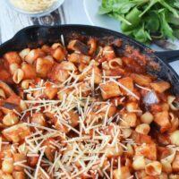 Vegetarian Eggplant Pasta Skillet