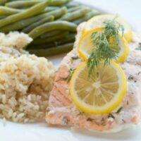 Slow Cooker Lemon & Dill Salmon {Keto}