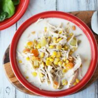 Slow Cooker Chicken & Corn Chowder