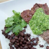 Grilled Flank Steak & Tomatillo Salsa
