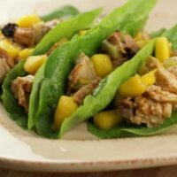 Grilled Mango Chicken Lettuce Wraps