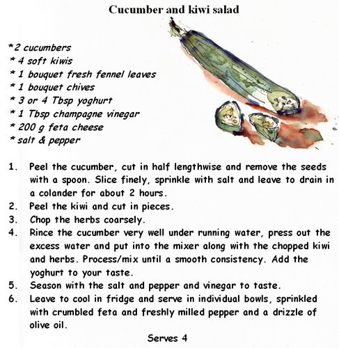 cold Cucumber and kiwi salad.bmp