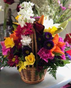 Spring Fling Flower Basket