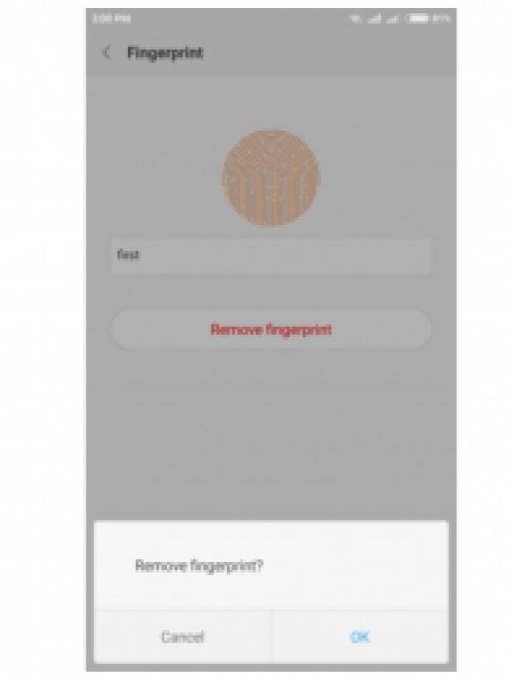 Fix technology fingerprint