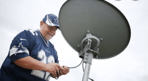 How to connect external antenna to dish network