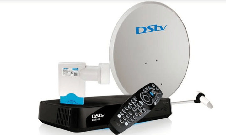 Dstv dish showing pre-opened hole