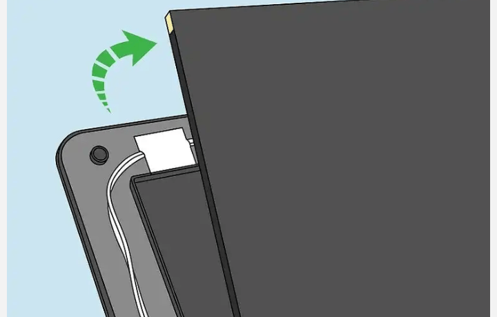 Disconnect the cables connected to the screen